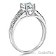 Split Shank Cathedral Knife-Edge 1-CT Round-Cut CZ Engagement Ring in 14K White Gold thumb 1