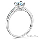 1-CT Basket Cathedral Round-Cut & Pave CZ Engagement Ring in 14K White Gold thumb 1