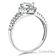 Split Shank Halo 1-CT Round Cubic Zirconia Engagement Ring in 14K White Gold thumb 1