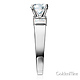 1-CT Round & Side Princess Baguette CZ Engagement Ring in 14K White Gold thumb 2