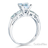 Modern 1-CT Princess-Cut & Baguette CZ Engagement Ring in 14K White Gold thumb 1