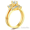 Marquise-Cut & Baguette Side CZ Engagement Ring Set in 14K Yellow Gold thumb 1