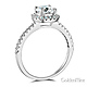 Square Halo 1.25CT Round-Cut CZ Engagement Ring in 14K White Gold thumb 1