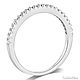 1.5mm Half Eternity Round-Cut Cubic Zirconia Wedding Band in 14K White Gold thumb 1