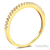 20-Stone Half Eternity Round-Cut CZ Wedding Band in 14K Yellow Gold thumb 1