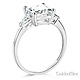 3-Stone Pear & 1.75-CT Princess-Cut CZ Engagement Ring in 14K White Gold thumb 1