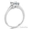1ct Basket Princess-Cut Solitaire CZ Engagement Ring in Sterling Silver (Rhodium) thumb 1