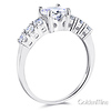 Basket-Set 1-CT Round-Cut CZ Engagement Ring in Sterling Silver (Rhodium) thumb 1