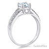 Split Shank Knife-Edge 1-CT Round CZ Engagement Ring in Sterling Silver (Rhodium) thumb 1