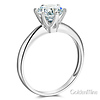 Knife-Edge 1-CT Round-Cut CZ Engagement Ring Solitaire in Sterling Silver (Rhodium) thumb 1