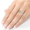 Chic 3 Stone Princess Cut Diamond Wedding Ring Set 1.0ctw thumb 7